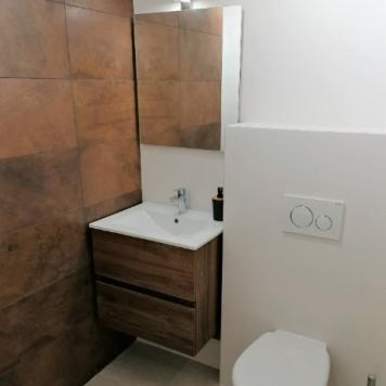 Rénovation d'une salle de bain avec création d'une douche  et d'un wc suspendu