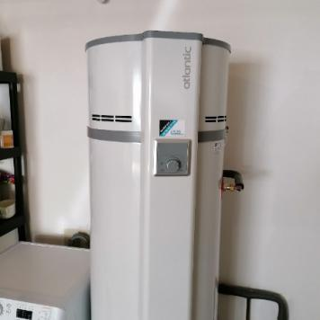 Installation d'un  chauffe eau thermodynamique sur air ambiant